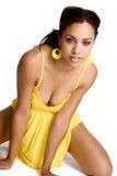sexig kvinna för afrikansk amerikan Royaltyfri Foto