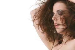 sexig kvinna för brunett Arkivfoton