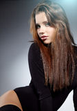 sexig kvinna för glamourstående Fotografering för Bildbyråer