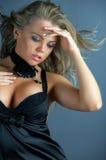 sexig kvinna för glamourstående royaltyfria foton