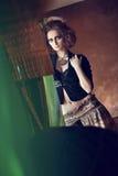 sexig kvinna för härlig brunett Fotografering för Bildbyråer