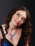 sexig kvinna för härlig stående arkivfoto