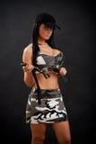 sexig kvinna för kniv Fotografering för Bildbyråer