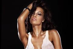 sexig kvinna för skönhetstående Arkivfoto
