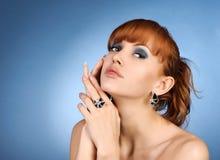 sexig kvinna för stående Fotografering för Bildbyråer