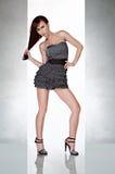 sexig kvinna för härlig klänningglamour Arkivfoton
