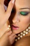 sexig kvinna för asiatisk makeup Arkivbild