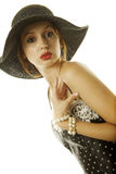 sexig kvinna för hatt Arkivbild