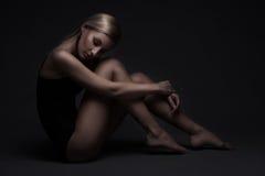 Sexig kvinna i baddräkt Fotografering för Bildbyråer