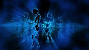 Sexig kvinnlig dansbakgrund 3 för skelett VJ royaltyfri illustrationer