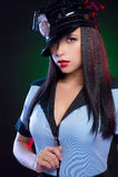 Sexig kvinnlig polis. Royaltyfri Fotografi
