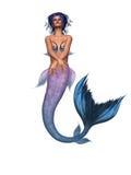 sexig mermaid stock illustrationer