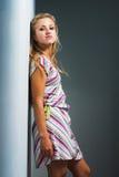 sexig modemodell för tillfälliga kläder Arkivfoton