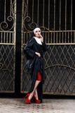 Sexig nunna Fotografering för Bildbyråer