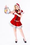 Sexig Santa flicka Fotografering för Bildbyråer