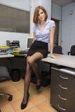 Sexig sekreterare fotografering för bildbyråer