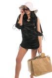 sexig shoppare Fotografering för Bildbyråer