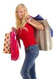 sexig shoppingkvinna Arkivfoton