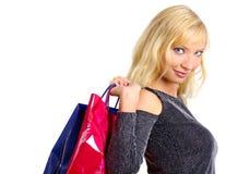 sexig shoppingkvinna Royaltyfri Foto