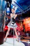 sexig showgirl Fotografering för Bildbyråer