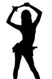 sexig silhouette för clippingleverantörbana Fotografering för Bildbyråer
