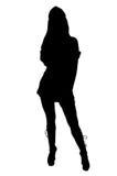 sexig silhouette för sjuksköterska Royaltyfri Fotografi