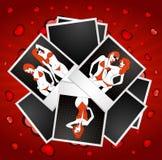 sexig silhouette för härlig klubbaflicka Royaltyfria Bilder