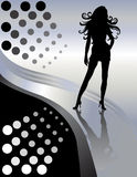 sexig silhouette för härlig kvinnliglady Royaltyfri Foto