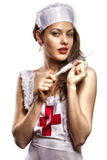 sexig sjuksköterska Arkivbilder