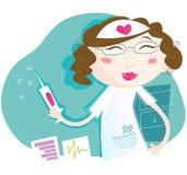 sexig sjuksköterska stock illustrationer