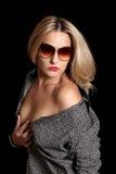 sexig skjorta för flickaman s Royaltyfria Bilder