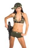 sexig soldat Arkivfoto