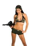 sexig soldat Fotografering för Bildbyråer