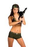 sexig soldat Arkivfoton