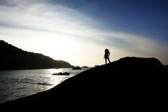 Sexig solnedgång Royaltyfria Bilder