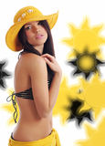 sexig sommar för flicka arkivfoton
