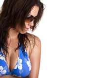 sexig sommar för flicka arkivbild