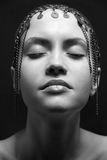 sexig stående för skönhetmodeflicka fotografering för bildbyråer