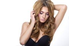 Sexig strikt kvinna med ljusa kanter Fotografering för Bildbyråer