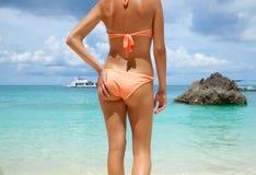 sexig tillbaka strand Royaltyfria Bilder