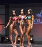 Sexig trio tjänar pro-bikinimedaljer Arkivbilder