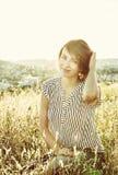 Sexig ung brunettkvinna, skönhetfilter Royaltyfria Foton