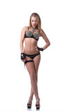 Sexig ung dansare som poserar i erotisk dräkt Royaltyfria Foton