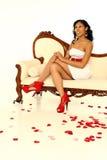 sexig valentinkvinna Royaltyfri Bild