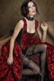 sexig victoriankvinna Royaltyfri Fotografi