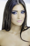 Sexiga blåa ögon Royaltyfria Bilder