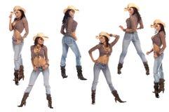 sexiga cowgirls Royaltyfri Foto