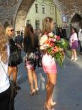 Sexiga flickor i Tallinn, Estland Royaltyfria Foton