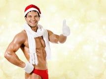 Sexiga Jultomte Fotografering för Bildbyråer