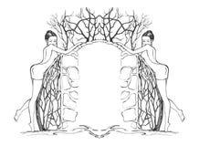 sexiga kantflickor royaltyfri illustrationer